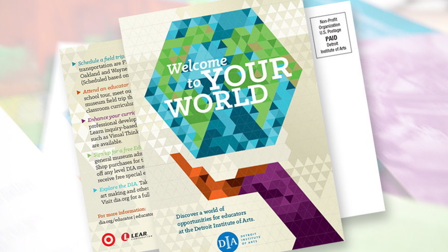 Nonprofit, graphic designer, postcard design, direct mail