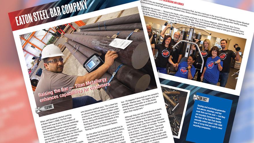 Steel Manufacturing Newsletter design