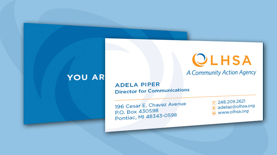 OLHSA Business Card