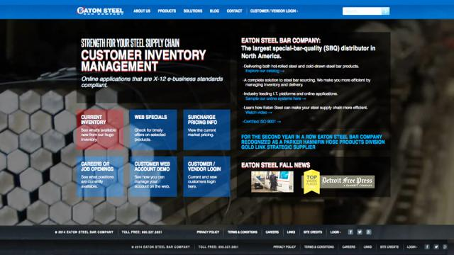 Eaton Steel website design